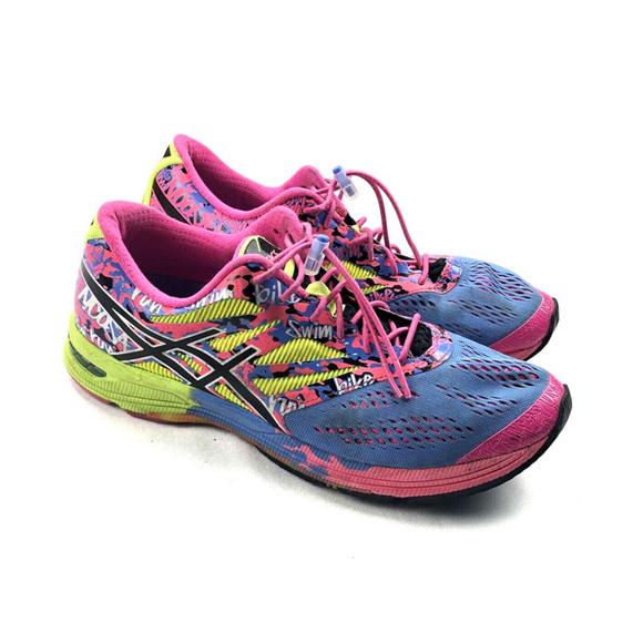 Asics Gel Noosa Tri 10 Shoes Womens Blue Pink sz 9